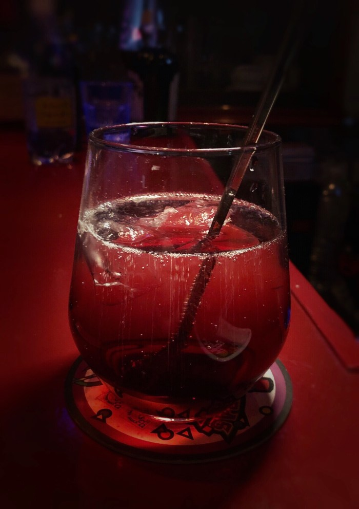 Cassis with tonic water