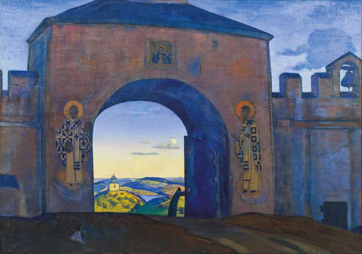 And We are Opening the Gates by Nicholas Roerich. Image via Wikimedia Commons.