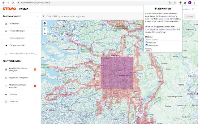 Utilisez l'extension chrome StatsHunters pour tracer vos parcours en visualisant les cases