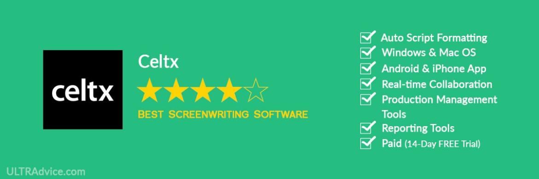 Celtx - Best Scriptwriting Software - ULTRAdvice.com