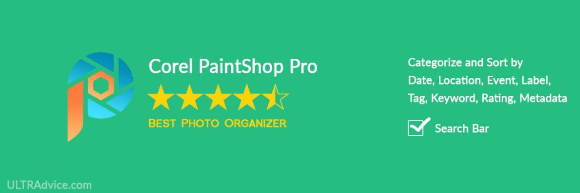 Corel PaintShop Pro - Best Photo Organizing Software - ULTRAdvice.com