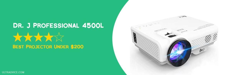 DR. J Professional 4500L Mini Projector - Best Projector under $200 - ULTRAdvice.com