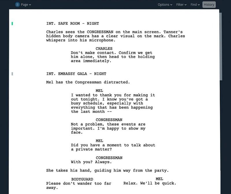 Scriptwriting Software Interface - Best Scriptwriting Software - ULTRAdvice.com