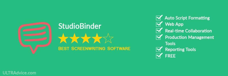 StudioBinder - Best Scriptwriting Software - ULTRAdvice.com