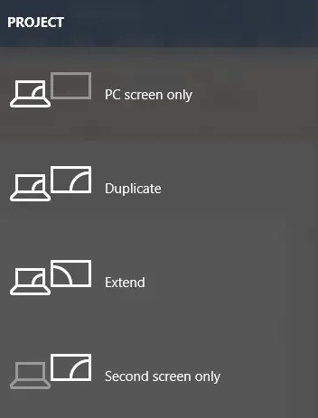 Windows 10 Screen Mirror Duplicate Extend Shortcut Key Options - ULTRAdvice.com