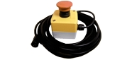 External E-stop box with 6 ft leads for induction heating machine. Ultraflex Power Technologies.