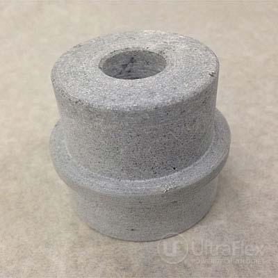 Casted ceramic compound after machining processing