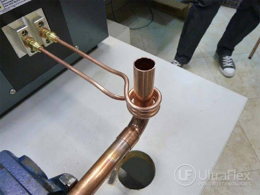 Brazing test of copper pipes with Ultraflex induction systems