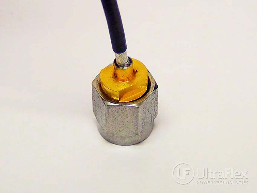 soldering coaxial cables