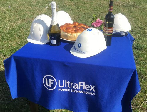 The construction of the second production building of Ultraflex Power is officially a fact