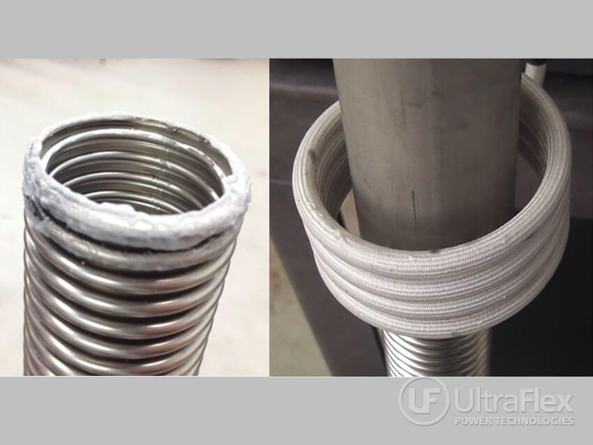 welding corrugated tubing to stainless steel