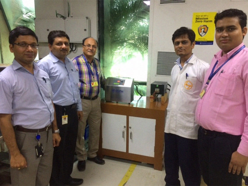 start up Larsen and Toubro SM5/200 kHz Induction Brazing machine