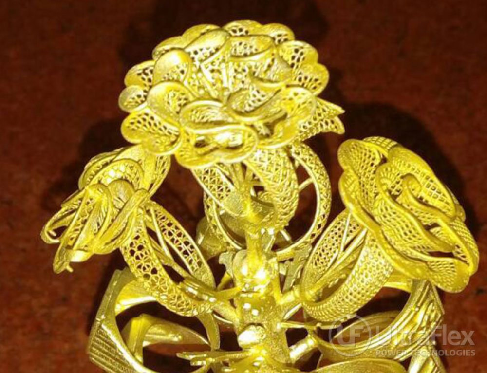 Gold Casting Tree produced by PressCast 5G