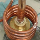Coil for induction brazing