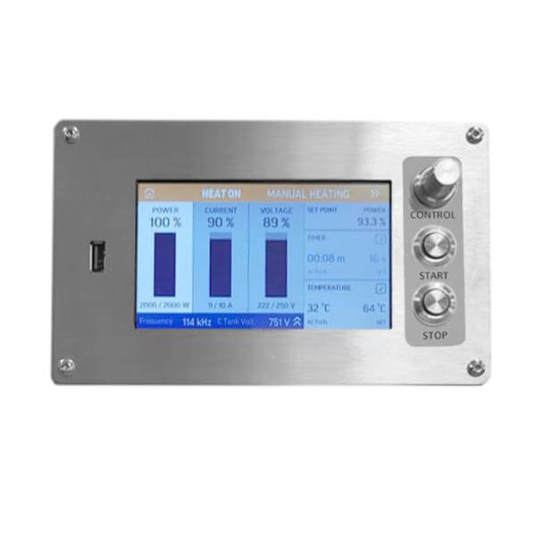 Touch screen panel induction heating