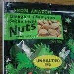 ポストチアシード オメガ3を豊富に含むサチャインチナッツ(無塩)を実際に食べてみました