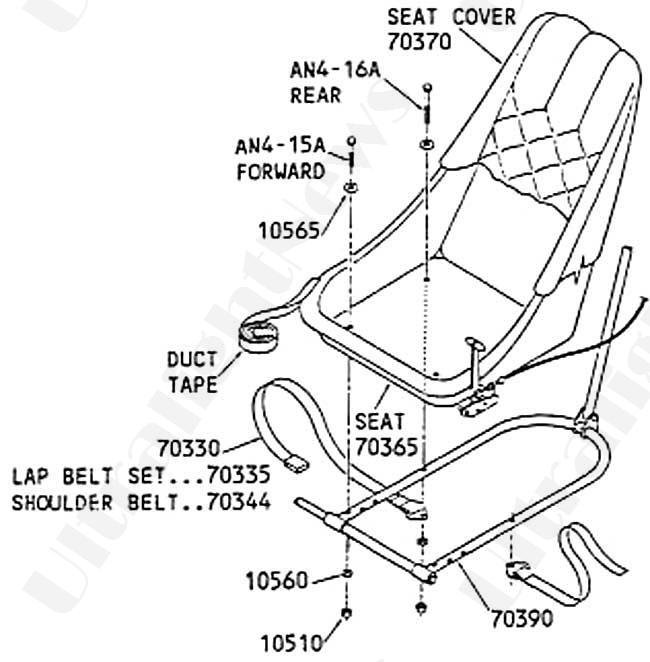 Quicksilver MX seat, Quicksilver MX seat assembly parts