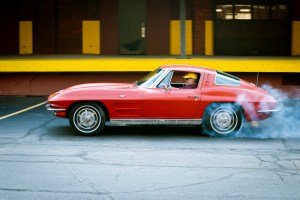 1963 split window corvette burnout
