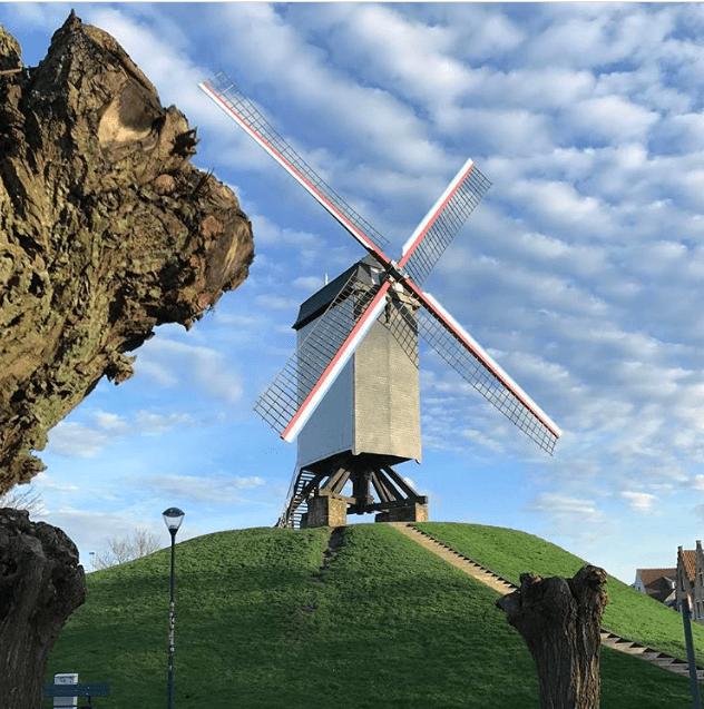 Os moinhos antigos de Bruges