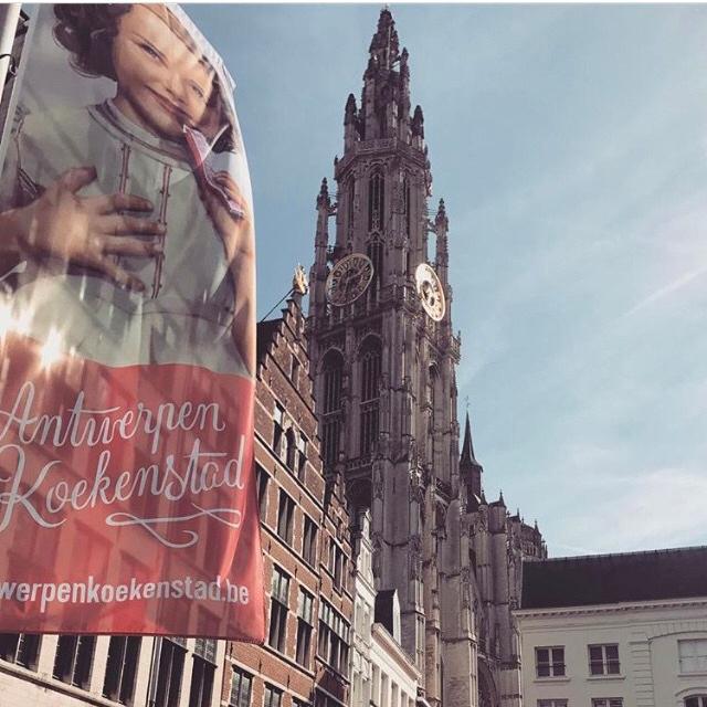 A bela catedral da Antuérpia