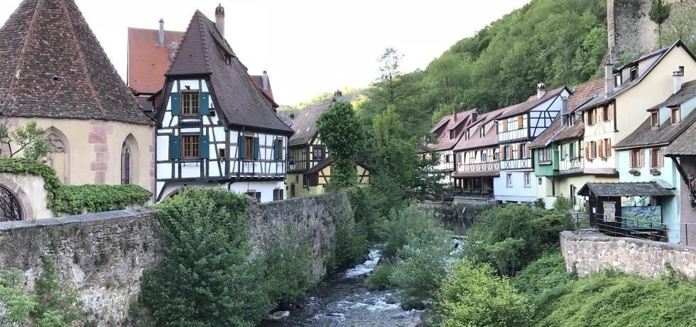 Kaysersberg e o charmoso rio que atravessa a cidade