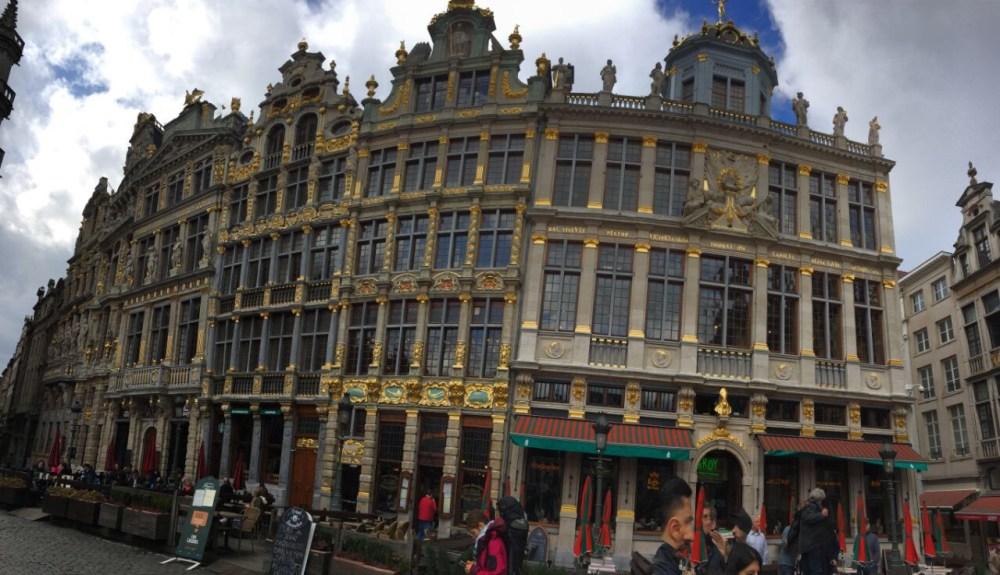 180 graus nos detalhes da Grote Markt de Bruxelas