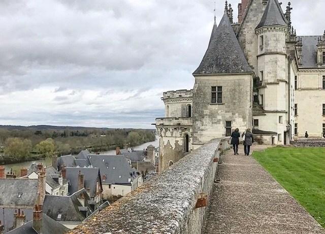 A vista do castelo de Amboise para o Loire