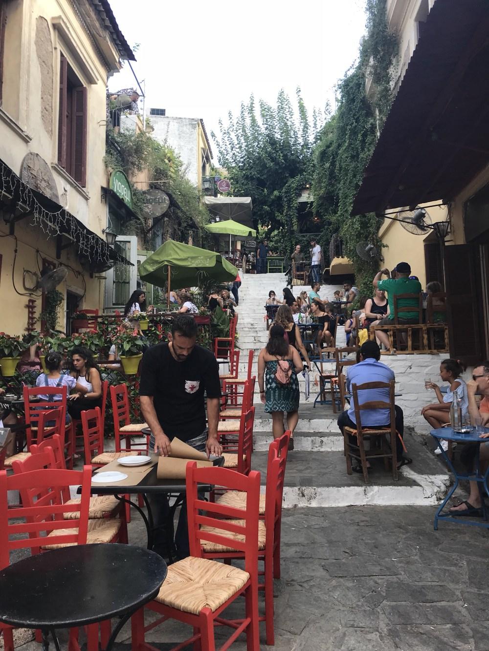 Ruas charmosas de Atenas