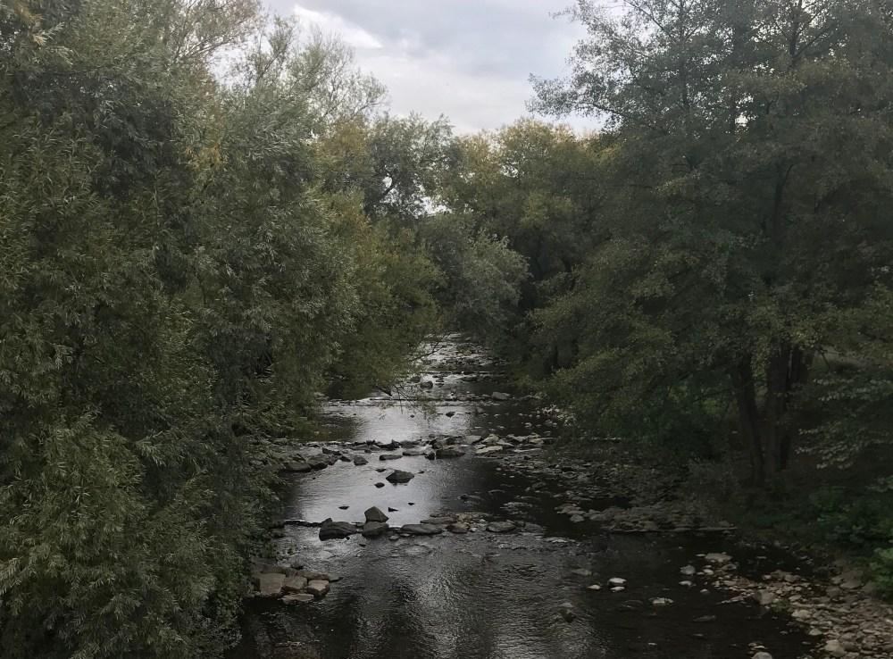 De uma ponte, vemos o rio e o parque que dão mais beleza à Friburg