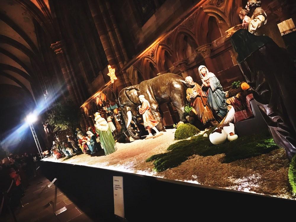O presépio da catedral de Strasbourg
