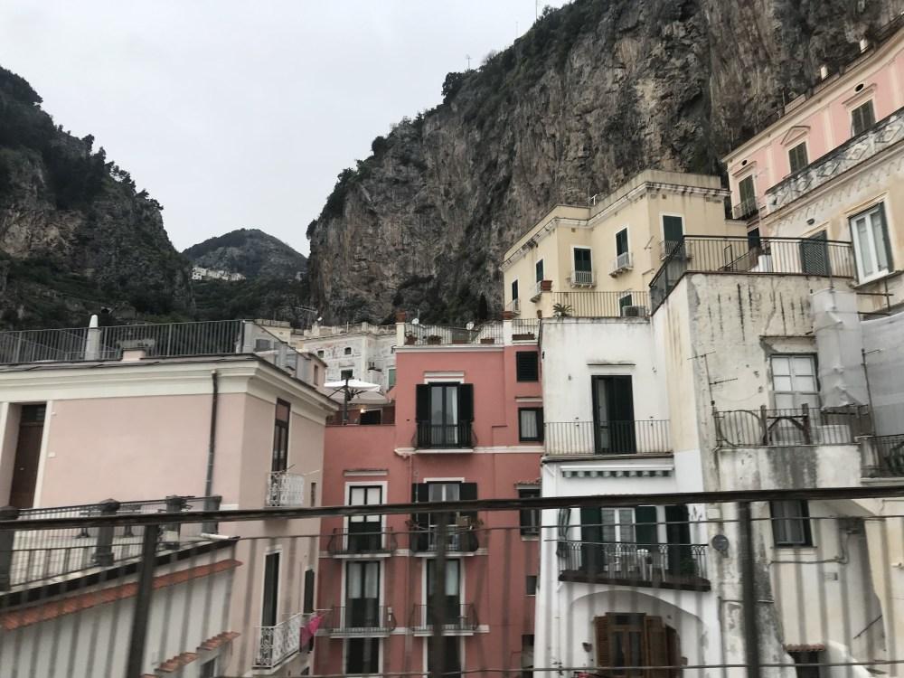 As casinhas de Amalfi, na Costa Amalfitana
