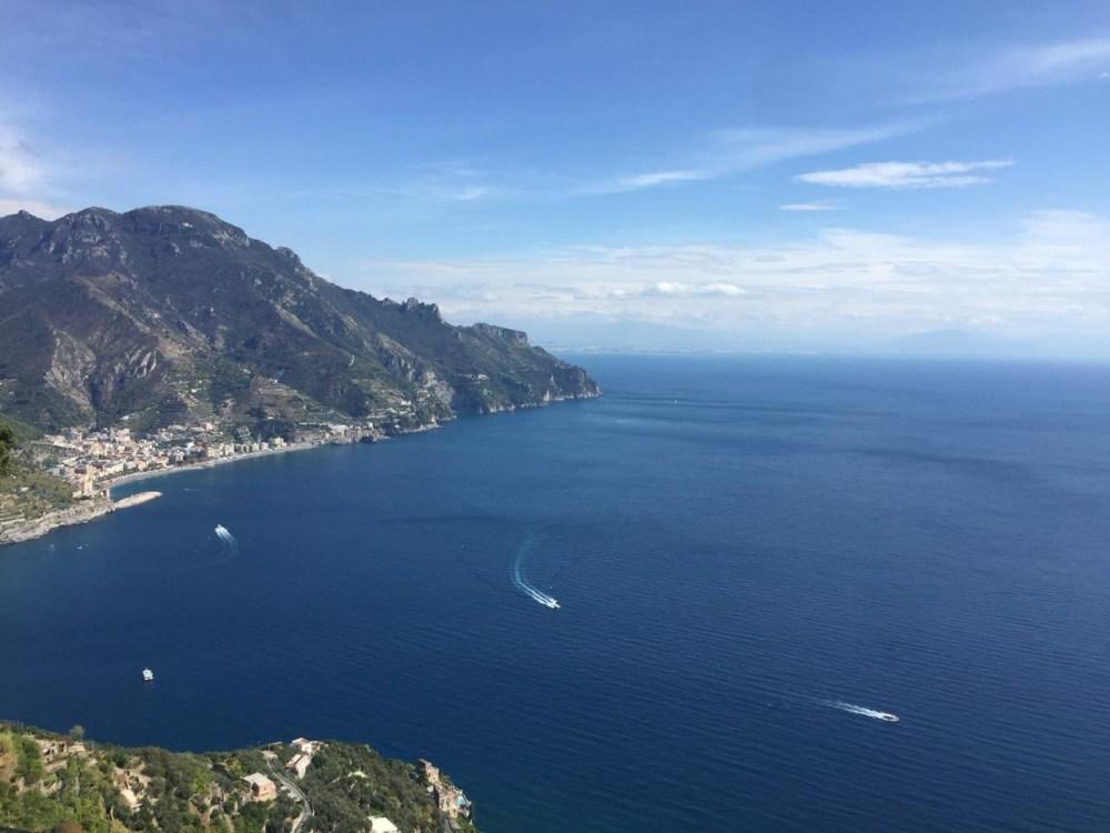 A vista do alto de Ravello, na Costa Amalfitana