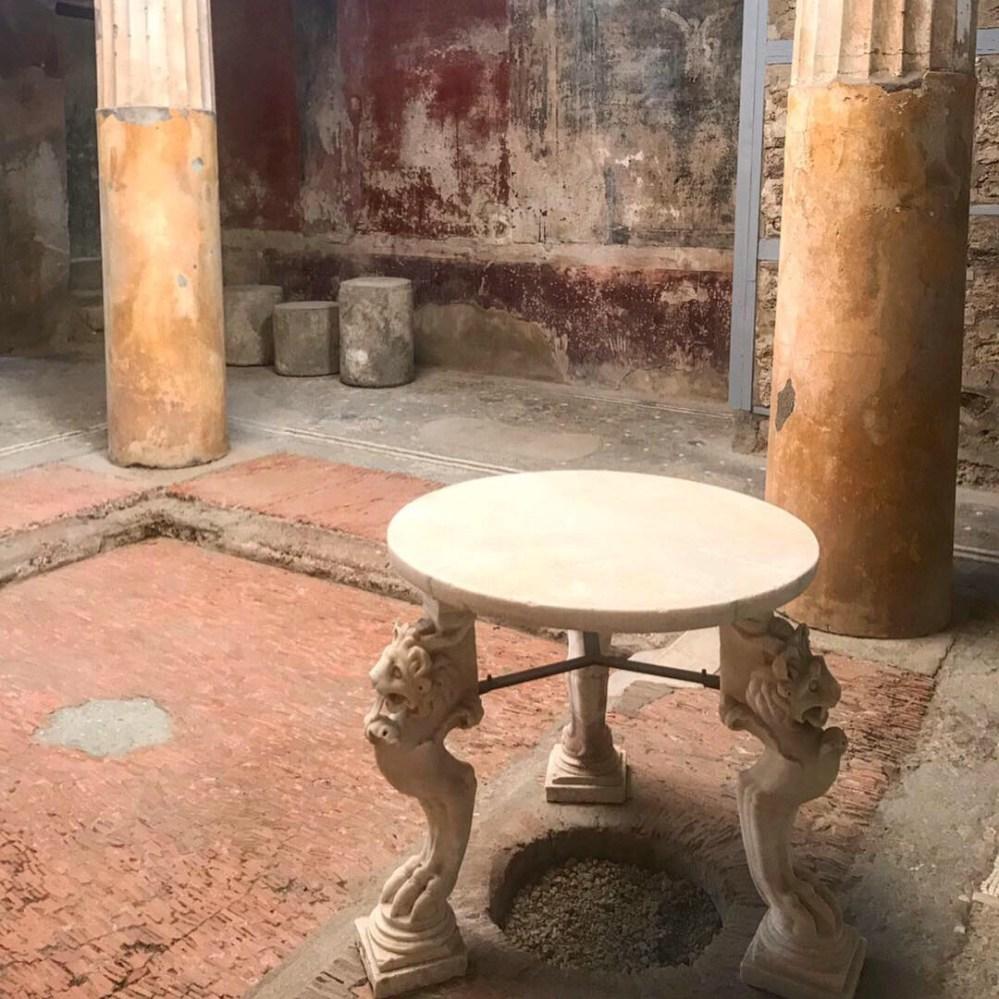 Uma das atividades que mais gostei: ver as casas de Pompeia
