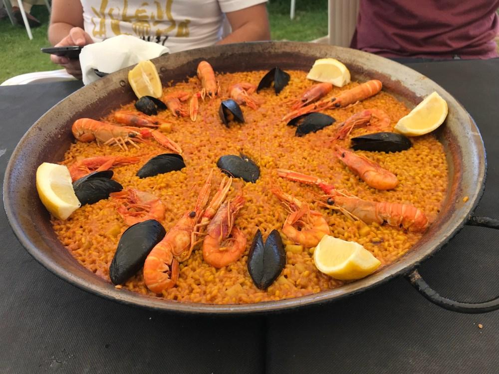 A paella do El Rek, restaurante onde costumamos ir