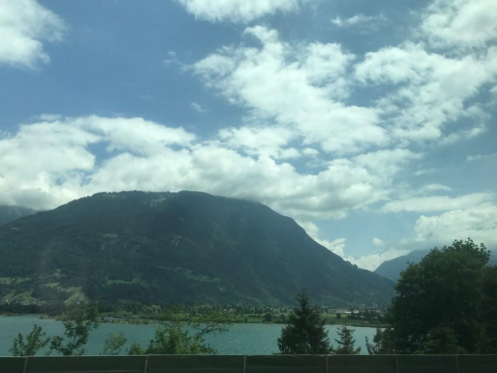 O trajeto de Zurique a Milão: belíssimo
