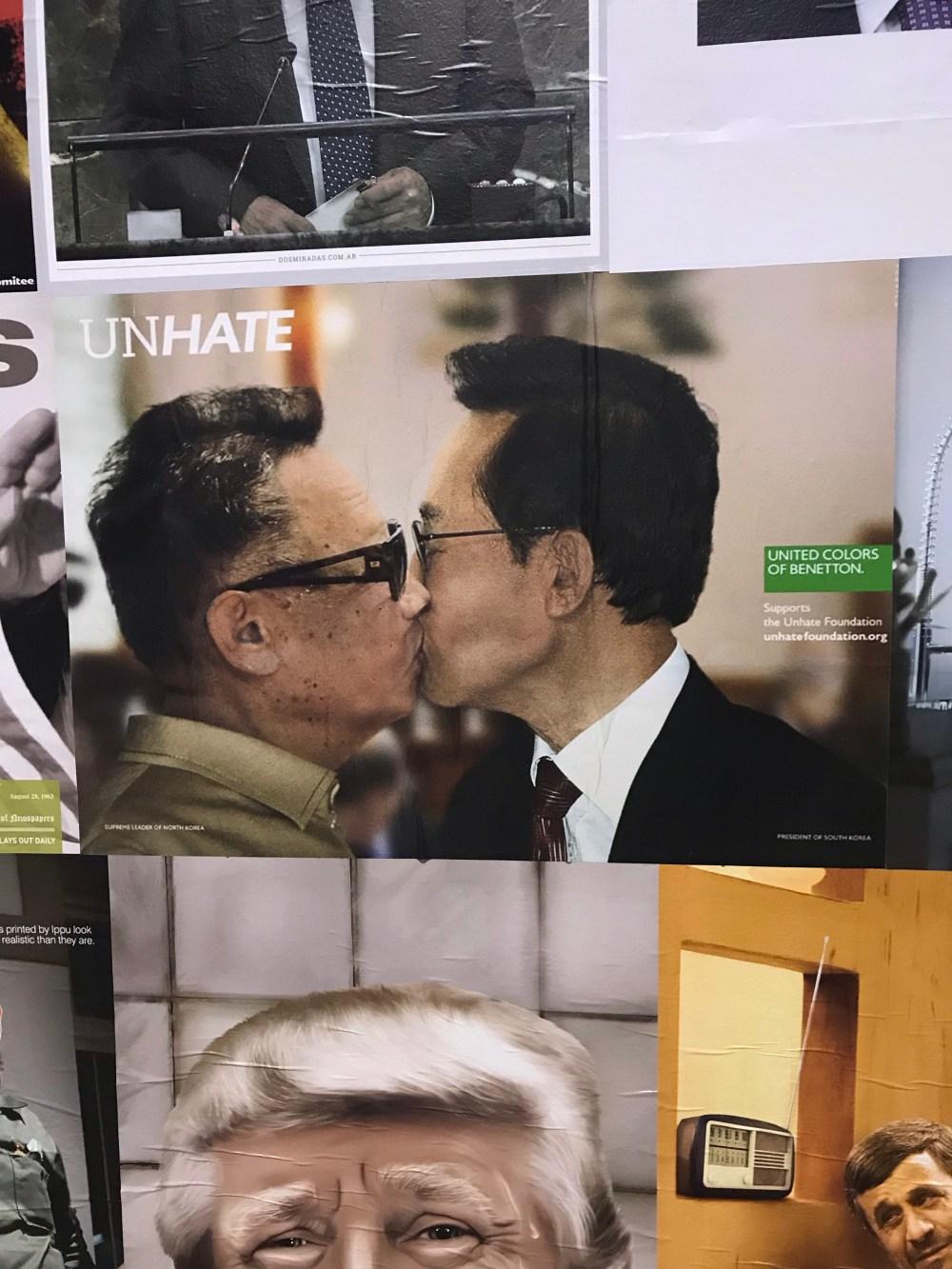 Uma das exposições que vimos no museu de arte contemporânea de Valência abordava campanhas com causa