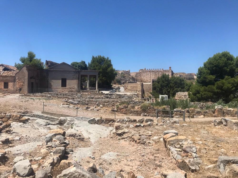 Ruínas do castelo romano de Sagunto, na comunidade autônoma de Valencia, Espanha