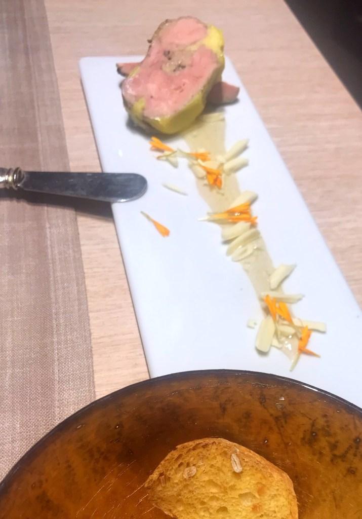 O foie gras do restaurante Vinatea de Morella