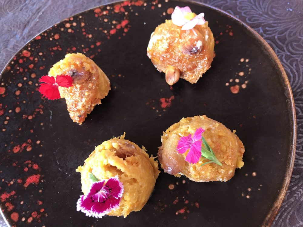 Arnadis, doce de abóbora e amêndoa típicos de Xàtiva