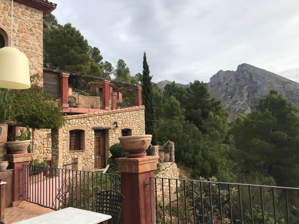 Área externa do hotel Finca del Tossal, em Bolulla, Benimantell, Alicante