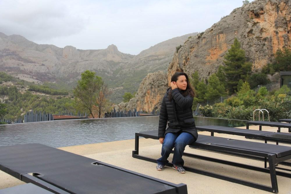 A piscina do VIVOOD Landscape Hotel de Benimantell, Guadalest, Provincia de Alicante, Espanha