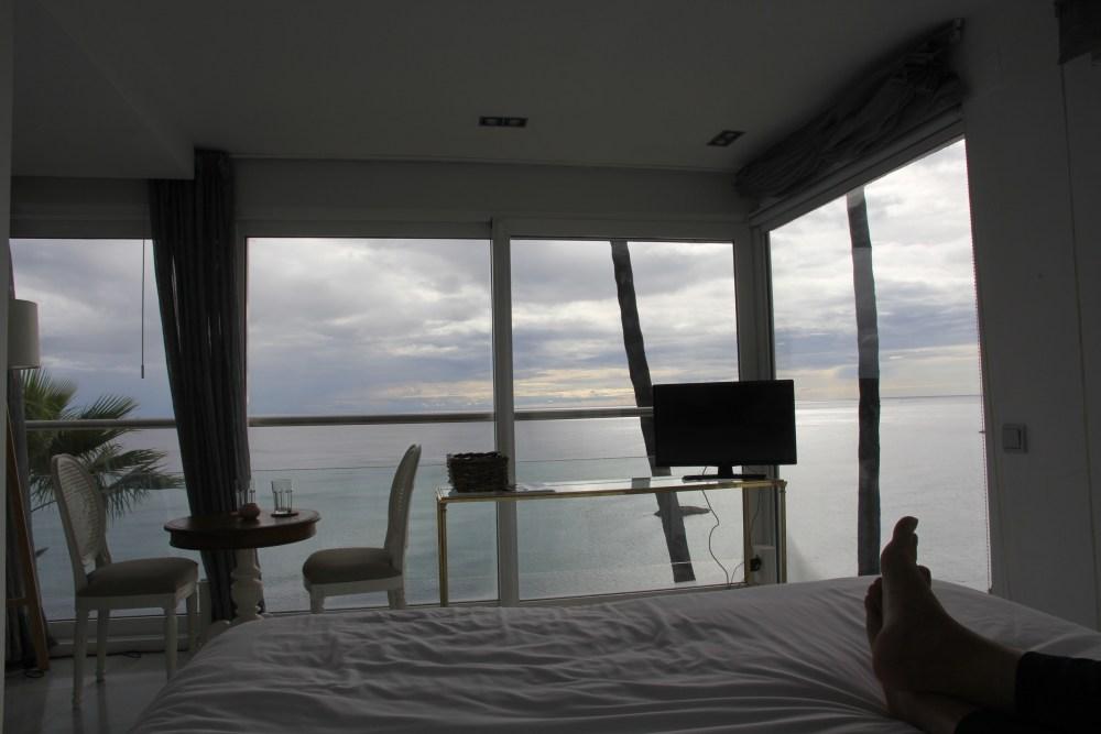 A vista do Habitación Doble Deluxe con vistas al mar do B&B Maison Condesa de Altea na Costa Blanca