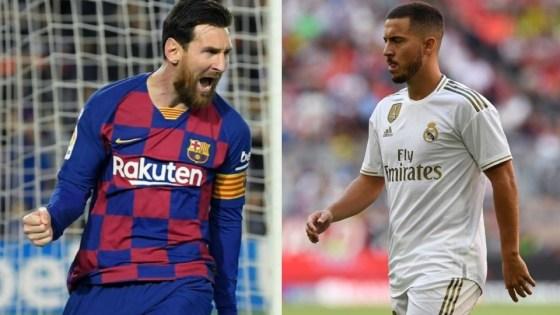 Lionel Messi (Barcelona) e Eden Hazard (Real Madrid) são os destaques neste retorno de La Liga