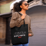 """Tote bag that says """"Exfiltrate ASAP."""""""