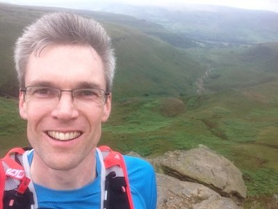 Giles Running on The Pennine Way