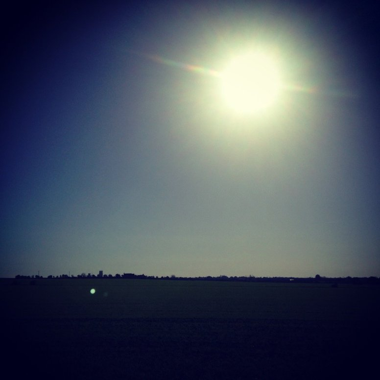 Clear blue skies and hot sun on Half Term XC Run