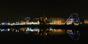 Evening run around Liverpool Docks