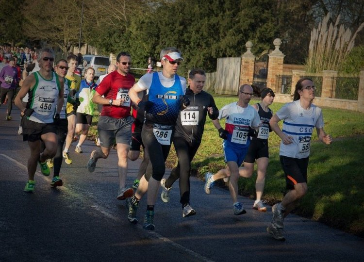 Giles at the start of the 2014 Ely NYE 10km