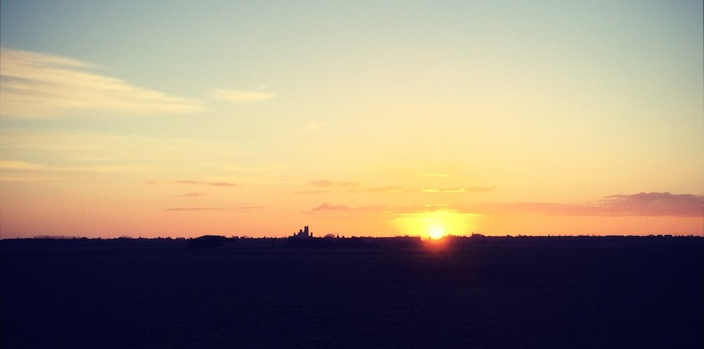 Sunrise over Ely