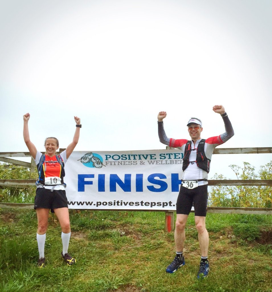 Karen and Giles at the Finish of the Norfolk 100